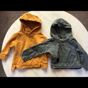 Set of two Zara 6/9 month hoodies